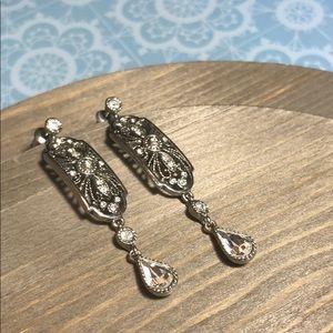 Stunning Art Deco Monet Vintage Earrings